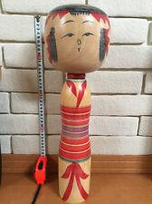 17.7 inch 45cm Big Large Kokeshi  Atsujiro Ishikawa Japan  VINTAGE Wood Doll