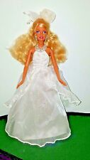 BARBIE DOLL WITH WHITE BRIDAL GOWN WEDDING DRESS