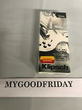 Klipsch S3m White In-Ear Only Headphones Earbuds For Any Device Comfort Fit