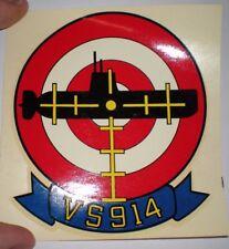RARE ORIGINAL US NAVY VINTAGE VS-914 UNIT FLIGHT HELMET DECAL