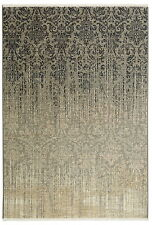 4' x 6' Karastan Machine Woven Area Rug Tiberio Gray Tan Ivory Charcoal Silver