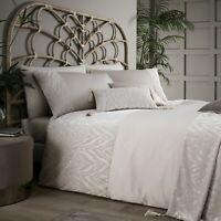 """Zsa Zsa"" By Caprice Home Animal Zebra Print Duvet Cover Bedding Set Oyster"