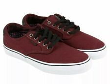 Vans Mens 7.5 Womens 9 Chima Ferguson Pro Plaid Port Burgundy Canvas Sneakers