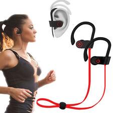 Bluetooth Headset Headphones Sport Sweatproof Stereo Earbuds Earphone For iPhone