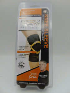 "Copper Fit Pro Series Compression Knee Sleeve (Large 17""-19"") Copper Infused"