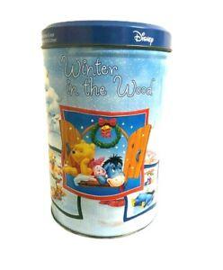 Disney Winnie The Pooh Collectors Series 1/12 Xmas Metal Tin Storage Container