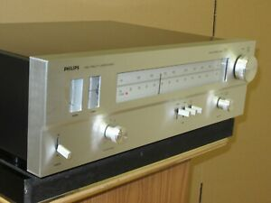 PHILIPS 185 vintage AM FM Stereo Tuner Serviced and restored