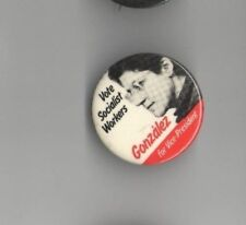 1984 Andrea GONZALEZ pinback THIRD PARTY Campaign pin SOCIALIST Workers