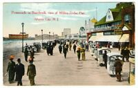 1914 Postmarked Postcard Promenade on Boardwalk Atlantic City New Jersey NJ