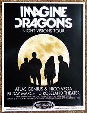 IMAGINE DRAGONS 2013 Gig POSTER Portland Oregon Concert