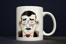 UNIQUE 350ml COFFEE MUG EMBEDDED WITH ORIGINAL PHOTOGRAPH: CARICATURE + BOOKER