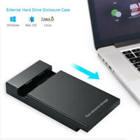 "6Gbps USB3.0 To SATA III 2.5"" 3.5"" External Hard-Drive Enclosure HD SSD HDD Case"
