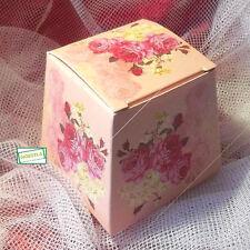 5 Pochettes Cadeaux rose fleurie à assembler pour vos emballages.