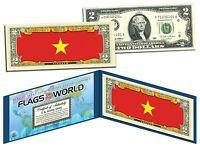 VIETNAM - FLAG SERIES $2 Two-Dollar U.S. Bill - Genuine Legal Tender Bank Note