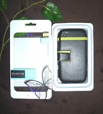 Zenus Black Green Wallet Leather Case Cover For Samsung Galaxy S3 Magnetic Clasp