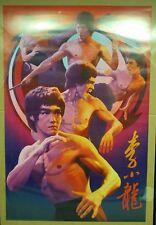 "1999 Wizard Bruce Lee Poster #3422 D6019 Artist Yuan Lee 24x36"" Never Displayed"