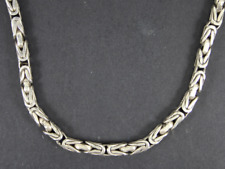Byzantine Chain Necklace Sterling Silver Ladies 925 40.1g Er49