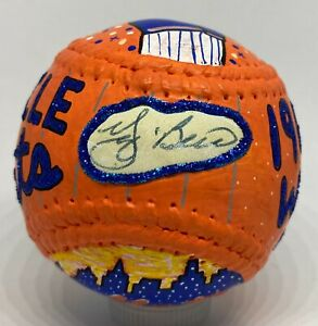 Yogi Berra 1/1 Signed CARTER X Custom Art Baseball Autograph JSA COA NY Mets HOF
