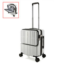 "20"" White Portable Luggage Carry On Travel Laptop 4 Wheels Trolley Bag Business"