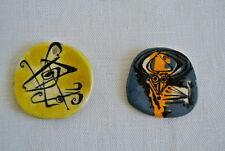 Plaques Médaillons vers 1960/70 pour collier Abstrait F.SOULAS ***Bijou VINTAGE
