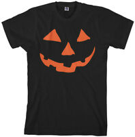 Orange Halloween Pumpkin Face Men's T-Shirt Costume