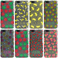 DYEFOR PERSONALISED FRUIT INITIALS CLEAR PHONE CASE COVER FOR ONEPLUS