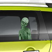 Evil Alien Monster Peeking Car Funny Joke Novelty Sticker Vinyl Decal Gift Xmas