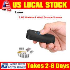 Eyoyo Mini CCD Bluetooth Barcode Scanner Bluetooth & 2.4Ghz Wireless & USB Wired