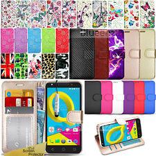 For Alcatel U5 5044D / 4047D U5 HD Wallet Leather Case Flip Cover + Screen Guard