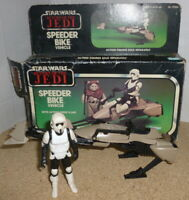 Vintage Star Wars Speeder Bike 1983 Kenner Return Of The Jedi - boxed