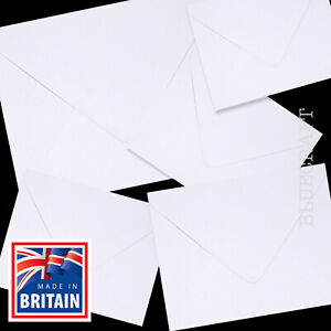 400 pack x White 130 x 130mm Square 5 inch x 5 inch Envelopes 100gsm