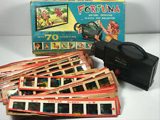 VTG Fortuna Toy Projector w/ 37 strips 3 stooges hanna barbara disney REPAIR box