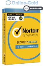 Norton (Internet) Security 2018 - 3 utilisateurs / 1 an clé d'activation - EU/FR