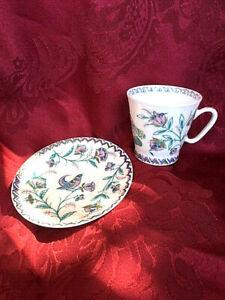 Mokkatasse LOMONOSOV Espresso Tasse Rußland seltenes Dekor Sammeltasse Porzellan