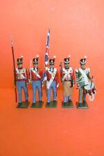 TRADITION : 1ER EMPIRE : ARMEE ANGLAISE  BEL ENSEMBLE DE 5 SOLDATS AU DEFILE