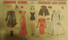 Brenda Starr Sunday with Large Uncut Paper Dolls from 11/30/1941 Full Size Page