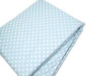 Pottery Barn Kids Sky Blue Mini Dot Polka White Dot Twin Duvet Cover New