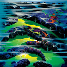 "Eyvind Earle ""I WANDERED OVER THE FIELDS"" 1996 Hand signed numbered Serigraph"