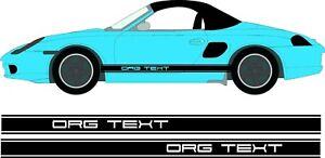 Porsche Boxster Side Stripes