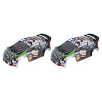 2pcs RC Body Shell Bodywork Replacement for WLtoys K989 1/28 Rally Car Part