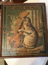 Rare Antique Mcloughlin Bros Cube Puzzle Hey Diddle Diddle Aunt Louisa