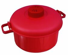 Micromaster Red Microwave Pressure Cooker by Handy Gourmet 2-1 2 QT JB6190