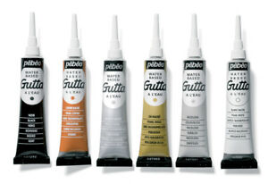 Pebeo Setasilk Gutta Water Based Colour Block Outliner Silk & Fabric Paint 20ml