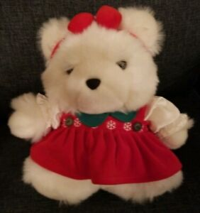 Dayton Hudson 1996 Miss Santa Bear Christmas Plush