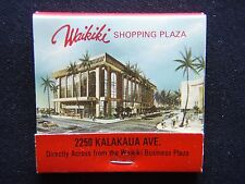 WAIKIKI LAU YEE CHAI CHINESE SHOPPING PLAZA 2250 KALAKAUA AVE 9231112 MATCHBOOK