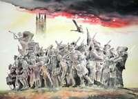 "ORIGINAL ALAN REED WATERCOLOUR ""The Response"" World War One WWI PAINTING"