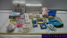 Qty = 28: Mixed Lot of Baby Items. Diapers, Nipples, Bib, Hat, Blanket, Mobile
