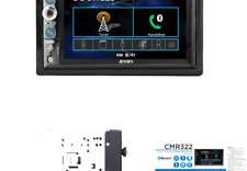 JENSEN CMR322 Double DIN Car Stereo Digital Receiver with 6.2-inch LED Backli...