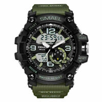 SMAEL Men's Digital Tactical LED Dual Time Analog Army Quartz Sport Wrist Watch