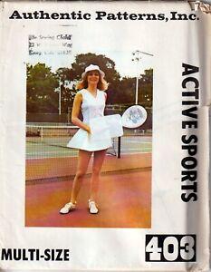 Vintage Authentic Patterns 403 Tennis Dress Jr Petite Size 5 7 9